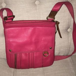 Pink Fossil Crossbody purse